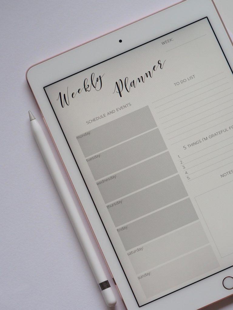 weekly planejamento semanal google design sprint 768x1024 - O que é Google Design Sprint e passo-a-passo para aplicar na prática